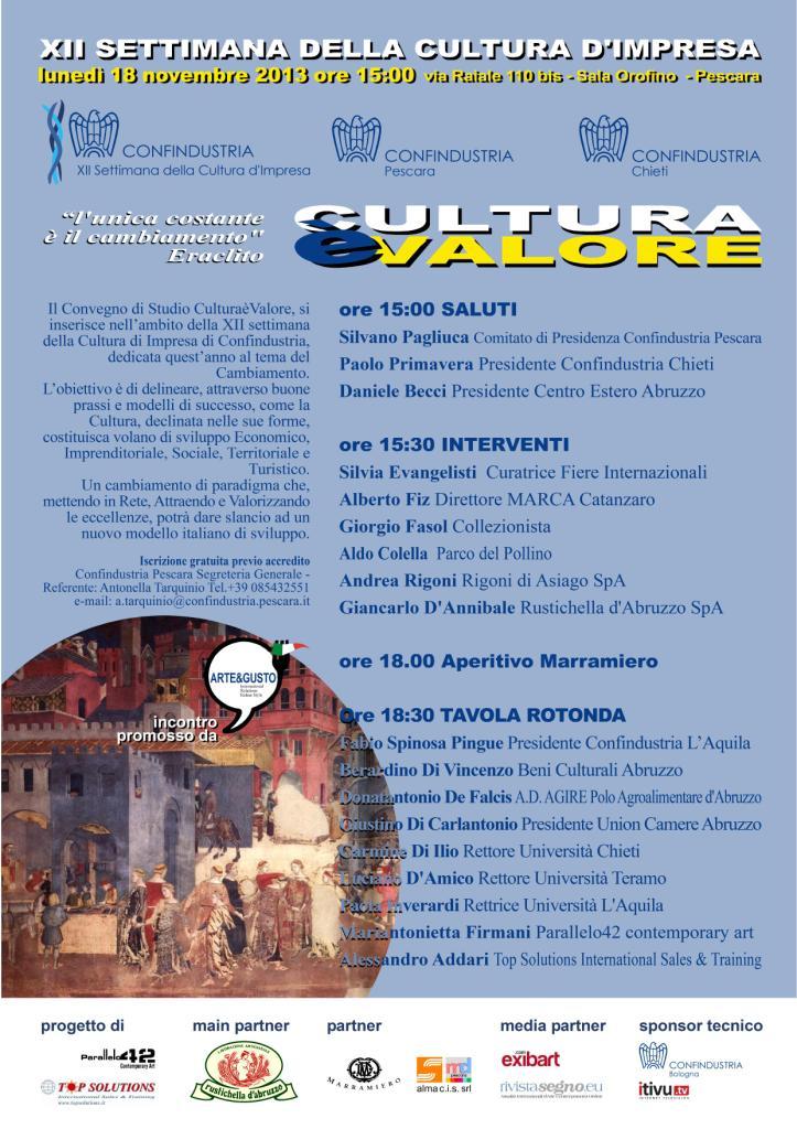 cultura è valore arte confindustria